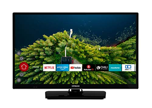 :HITACHI H24E2000 61 cm (24 Zoll) Fernseher (HD Ready, Smart TV, Prime Video, Works with Alexa, Triple-Tuner, PVR)