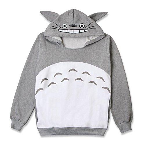 CoolChange kuscheliger Totoro Kapuzen Pullover, Größe: M