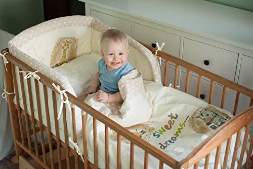 BlueberryShop - Juego de cama de algodón para bebé, funda nórdica de 90 x 120 cm, funda de...