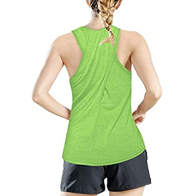 Amazon - Save 50%: Meegsking Women's Cross Back Yoga Shirts Loose Casual Activewear Workout…