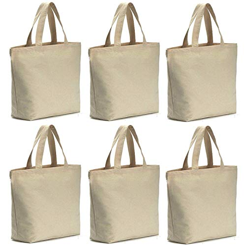 Axe Sickle 6 Pcs 12oz Canvas Tote Bag 14.5 X 14.5 X 5 inch Bottom Gusset Tote Shopping Bag, Washable Grocery Tote Bag, Craft Canvas Bag, White.