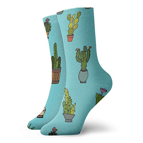ngxianbaimingj Cactus Plant Ankle Socks Casual Cozy Crew Socks for Men Women Yoga Hiking Cycling Running Soccer Sports