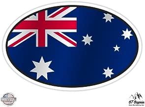 Australia Flag Oval - Vinyl Sticker Waterproof Decal