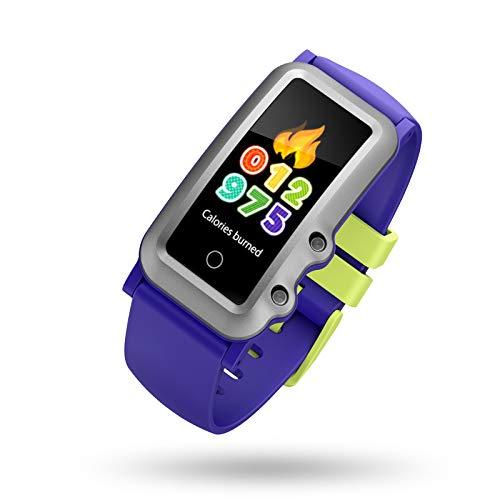 BIGCHINAMALL Reloj Inteligente Niño, Niña Pulsera Actividad Reloj Inteligente de para Deportivo Monitores Smartwatch Contador Pasos Pulsometro Deporte Relog Digitales Watch (Blue)