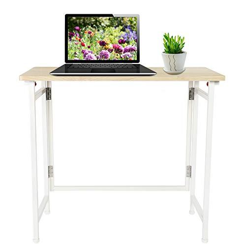 Greensen Schreibtisch Klapptisch Holzwerkstoffen Computertisch, Faltbarer Laptop-Desktop-Tisch Bürotisch, Studiertisch Kleiner Konferenztisch Arbeitstisch Esstisch für Zuhause, Büro, Picknick,Garten