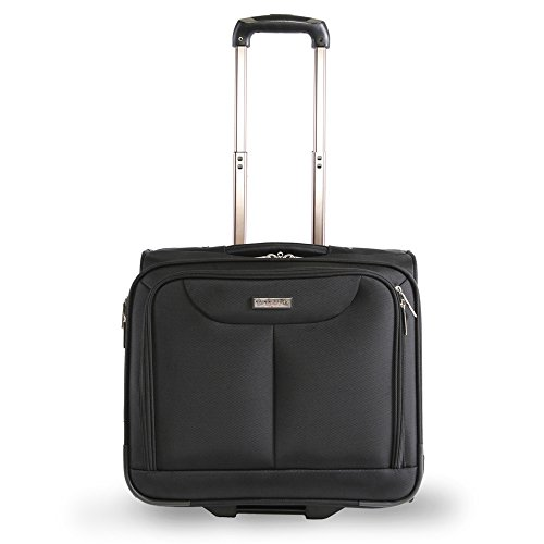 Pacific Coast Signature Rolling Laptop Business Briefcase, Black, One Size