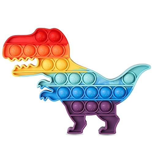 VUNAKE Stressbälle Blase Stressball Anti Stress Bälle Decompression Ball für Kinder und Erwachsene,Push Bubble Stressabbau Anti-Angst Sensorisches Zappeln Spielzeug, Dinosaurier
