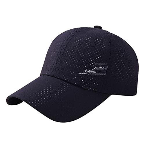 New Mesh Sun Hat Men Women Summer Baseball Cap Quick Drying Hats Unisex Breathable Sports Solid Snapback Hat Bone Baseball Hat-NY