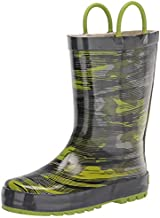 Western Chief Kids Boy's Distressed Camo Rain Boots (Toddler/Little Kid) Gray 11 Little Kid M