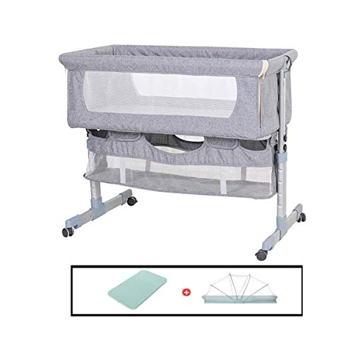 Best Deals! HIZLJJ 2 in 1 Lightweight Travel Baby Crib w/Detachable & Washable Mattress,Zippered Bre...