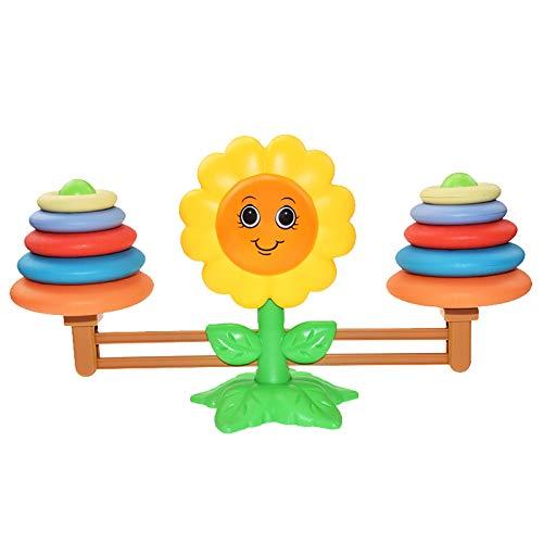 Blssom Mathe Waage Spielzeug,Sonnenblumen Balance Spielzeug Tierwaagen,Zählen und Rechnen,Mathepädagogische Spielwaren Tisch Lernspielzeug Spaß Bildungs Geschenk für Kinder Jahhre Alt