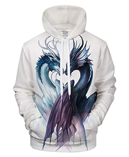 FYI Print Men Ying and Yang Dragon Hoodies 3D Unisex Sweatshirt Tracksuit Women Fashion Street Style Hiphop Pullover Jacket Outwear Casual Comic Hooded