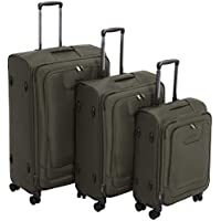 Deals on AmazonBasics Premium Softside Spinner Luggage 3-Piece