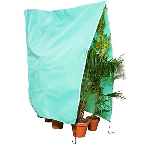 GardenGloss® Pflanzenschutz Winter [Verschiedene Größen] – Winterschutz für Kübelpflanzen, Palmen und andere Pflanzen – Reissfest, UV-Stabil und Wiederverwendbar – Wintervlies (Türkis, 200x240cm)