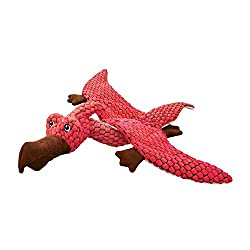 5. KONG Dynos Pterodactyl Coral Dinosaur Squeak Dog Toy
