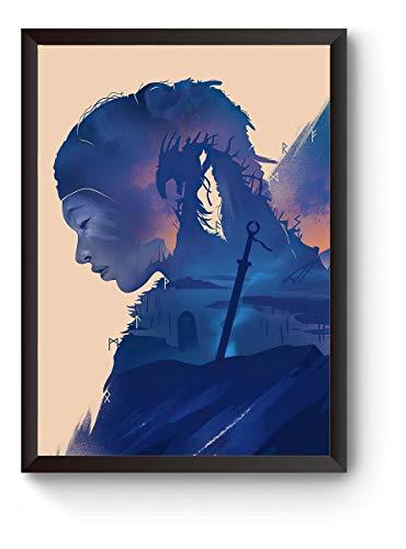 Quadro Game Hellblade Poster Moldurado