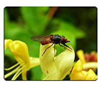 Fly Campestris Hoverfly Insect Forestカスタマイズされた長方形マウスパッド、ゲーミングマウスパッドマウスマット