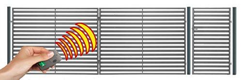 Einfahrtstor Hoftor Doppelflügeltor Gartentor Berlin 400 x 150 cm, mit Pforte 94 cm, elektr. Antrieb und Riegelset, Komplett-Set. Gesamtbreite ist ca.537 cm