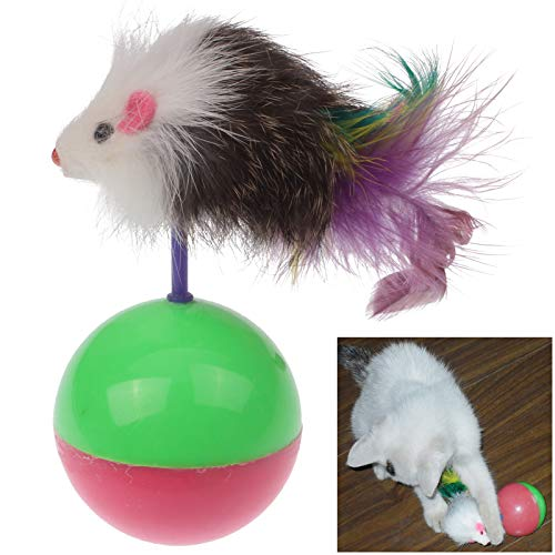Safety Cute Mouse Style Price reduction Tumbler Pet We OFFer at cheap prices Delive Cat Color Toy Random