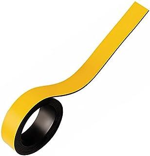 comprar comparacion Cinta magnética flexible de colores, fuerte magnetización - 0,85mm x 20mm x 5m - para rotular y marcar, Color:amarillo