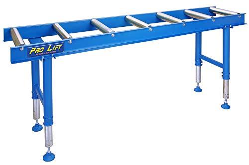 Pro-Lift-Werkzeuge Rollenbahn Rollbahn Förderband 2000 mm höhenverstellbar 400 kg Rollentisch 7 Rollen Transportrollbahn Förderstrecke