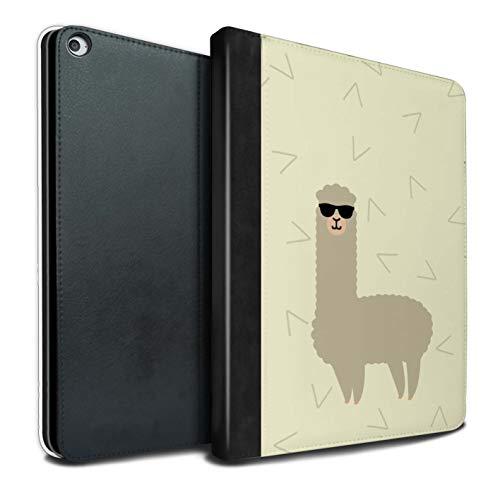 eSwish PU-Leder Hülle/Case/Brieftasche für Apple iPad Pro 12.9 2015/1st Gen Tablet/Coole Sonnenbrille Muster/Karikatur Alpaka Kollektion