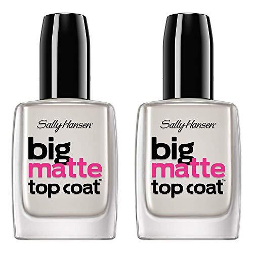 Sally Hansen Nail Treatment Big Matte Top Coat, 41055, 0.4 Fl Oz (Pack of 2)