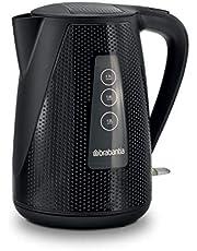 Brabantia BBEK1013KBK zwart – luxe waterkoker 1,7 l - 2150 watt - met kalkwaterfilter - elektrische waterketel met automatische uitschakeling