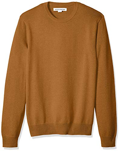 Amazon Essentials Men's Crewneck Sweater, Rust, X-Small