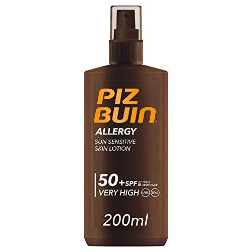 Piz Buin, Protector Solar, Allergy Spray SPF 50+ Protección Muy Alta Spray, Pack 2 x 200 ml