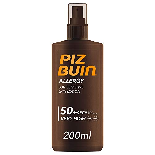 Piz Buin, Protector Solar, Allergy Spray SPF 50+ Protección Muy Alta Spray, Pack 2 x 200 ml