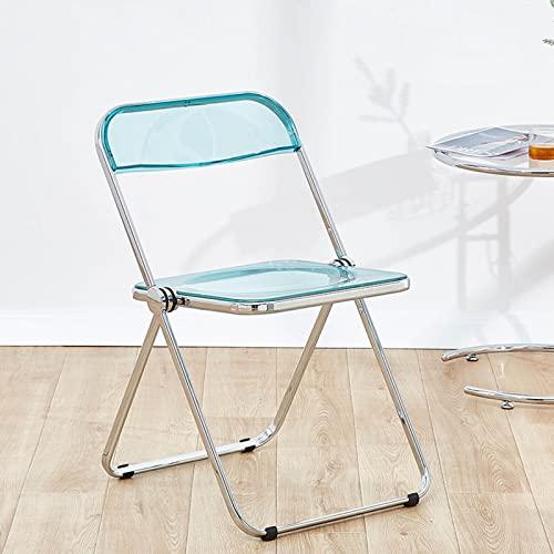 Folding chair Silla Minimalista Minimalista,Silla Transparente Estilo,Silla Plegable Acrílico,7 Colores,46 * 47 * 74cm...