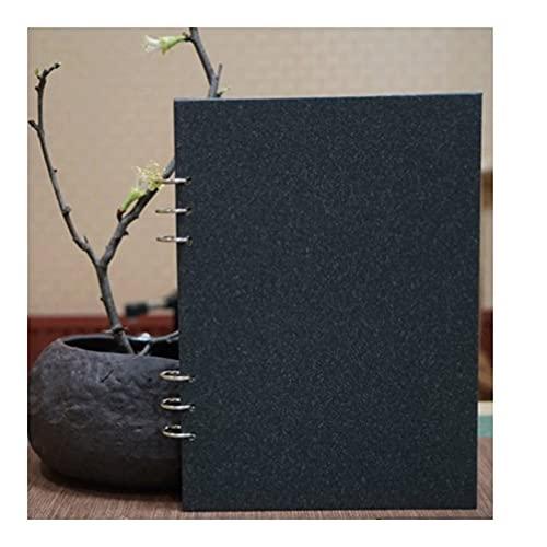 Cuaderno clásico B5 Binder Journal Winderable Writing Notebook Diario Bloc De Notas para Hombres Y Mujeres Regalo para Artista, Boceto 19x26.5cm (Color : Brown, tamaño : Checkered Inner Page)