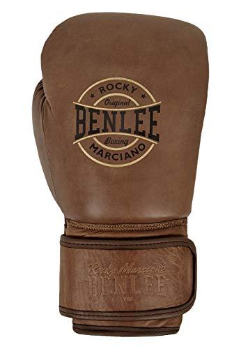 BENLEE Rocky Marciano Unisex - Guantes de Boxeo de Piel para Adultos, Color marrón Vintage, 18 oz