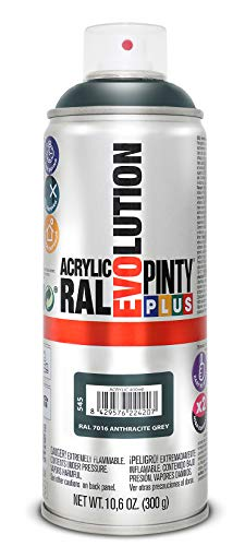 PINTYPLUS EVOLUTION 545 Pintura Spray Acrílica Brillo 520cc Anthracite Grey Ral 7016, Non Concerné, Estándar