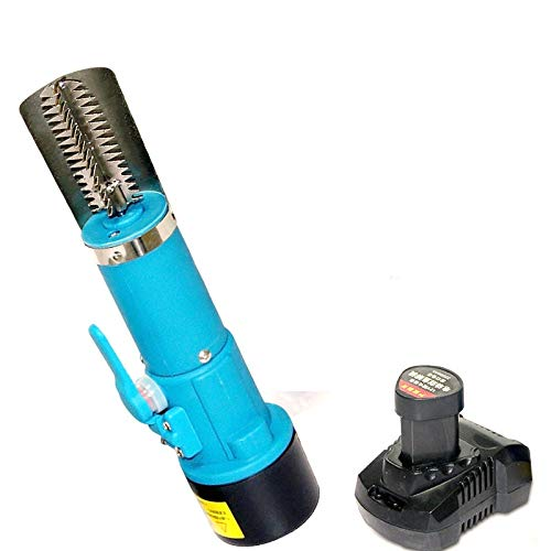 CAIDU Lithium Ion Cordless C.W./Anti-Clock ROTATING Electric Fish Scaler, Waterproof 1500mA Battery...