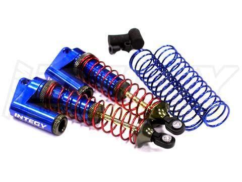 Integy RC Model Hop-ups T7964BLUE MSR9 Rear Piggyback Shocks for 1/10 Stampede 2WD,Rustler 2WD,Slash 2WD (L=102mm)