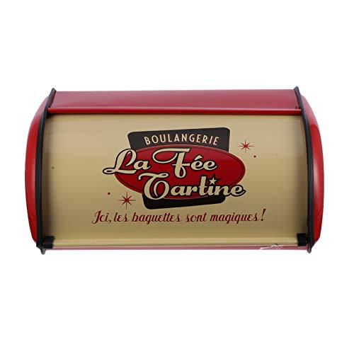 Hemoton Brotkasten Metall Vintage Staubdicht Brotdose Brotbox Brotbehälter Brot Aufbewahrung Box Kiste für Brötchen Länger Frisch (Rot)