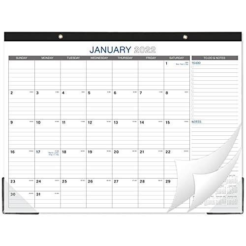 "2022 Desk Calendar - Large Desk Calendar, 22"" x 17"", Jan 2022 - Dec 2022, 12 Months Planning, Large Ruled Blocks, Desk/Wall Calendar for Planning and Organizing"