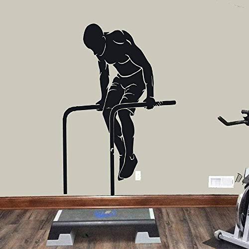 Pegatinas de pared calcomanías artísticas decoran los músculos para el ejercicio divertido deportes ventana sala de entrenamiento gimnasio gym art 57x86cm
