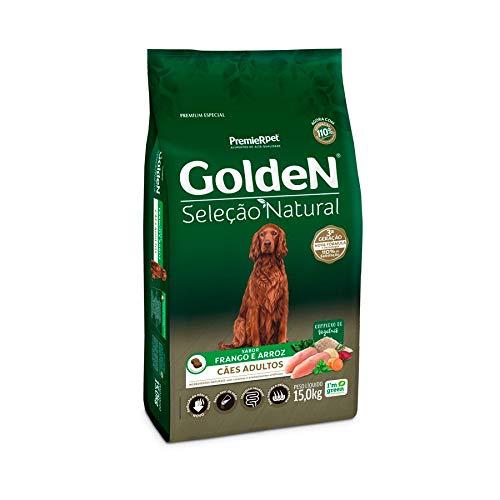 Ração Golden Seleção Natural para Cães Adultos Sabor Frango, 15kg Premier Pet Para Todas Grande Adulto,