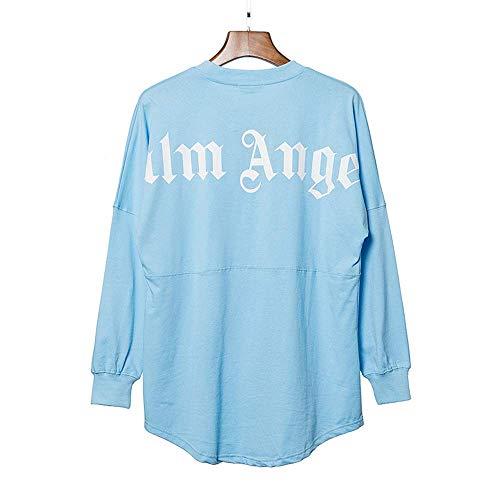WHTIAN Sweatshirt Herbst Und Winter Graffiti Palm Angel Print Sowie Lässige Lose Pullover Paar Sweatshirt Unisex Hip-Hop Woll-Sweatshirt, Baumwolle (L)