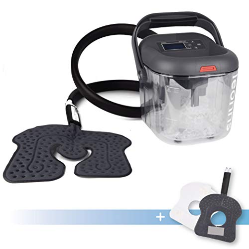LEONNS Cold Therapy Machine w/Universal Flexible Pad | Ice Cryotherapy System for Knee, Shoulder, Back, Hip and More (Universal + Knee Pad)