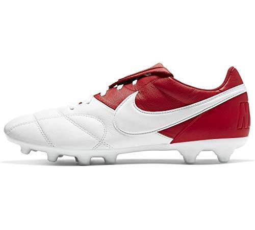 Nike Fußballschuhe Herrenschuhe Premier II FG für Rasen 917803, Größe Schuhe Erwachsene:39, Farbe Nike:Rot-Weiß