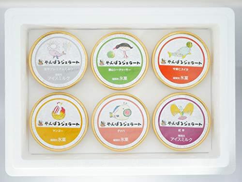 沖縄やんばるジェラート 6個セット ミルク シークヮーサー スイカ マンゴー グァバ 紅芋 沖縄ジェラート フルーティ