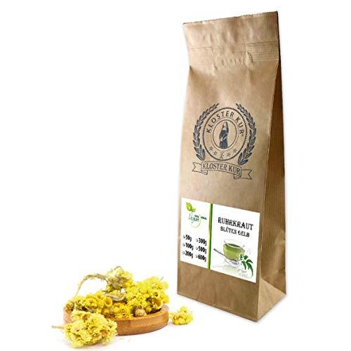VITAIDEAL VEGAN® Ruhrkrautblüten ganz (Helichrysum arenarium) 50g, rein natürlich ohne Zusatzstoffe.