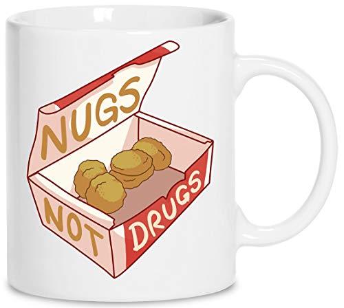 Nugs Nicht Drogen Keramik Weiß Tassen Kaffeebecher Cup Mug