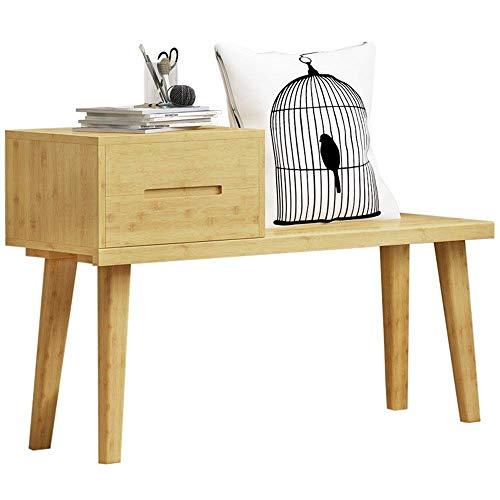 ZLININ Zapatero fácil con cajón de bambú para zapatos, organizador ideal para pasillo, sala de estar, dormitorio y pasillo (color: color principal, tamaño: 100 x 31 x 62 cm)