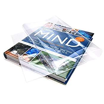 """ClearBags 12 1/2 x 23 1/2 Clear Book Covers   for Books 12 1/4"""" Tall and Up to 23 1/2"""" Wide   Protect Against Wear and Tear Water and Dust   Archival Safe   BC121H  Pack of 25"""