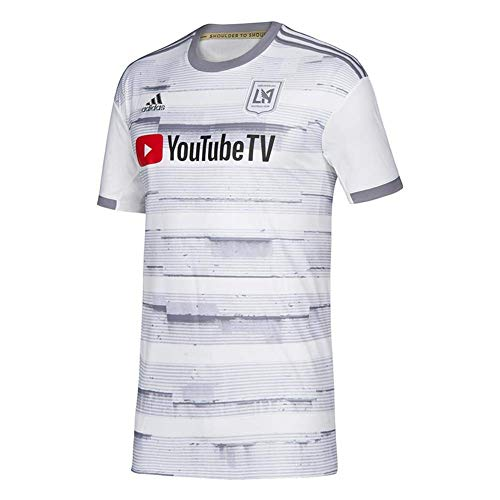 adidas Mens 2019/20 Los Angeles FC LAFC Away Replica Jersey Small (White/Gray)